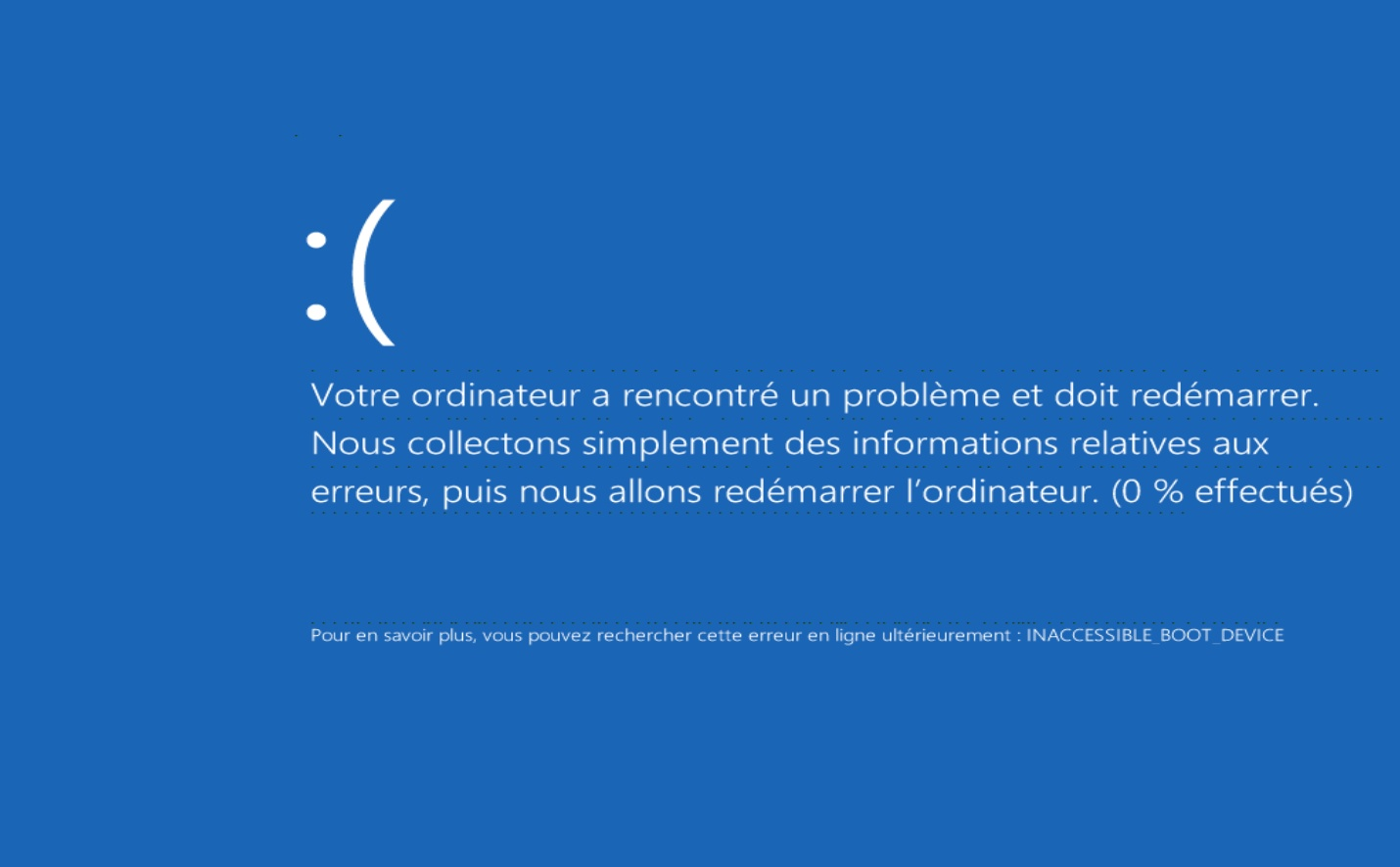 ecran bleu windows 8